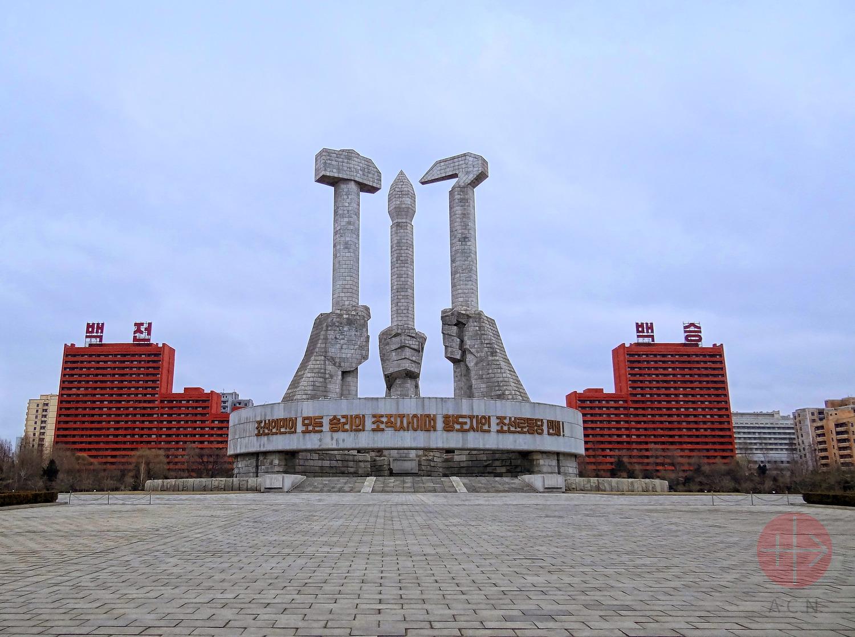 Severná Kórea monument