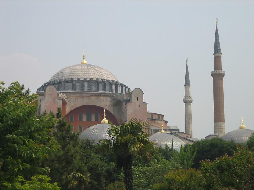 Chrám Hagia Sofia v Turecku
