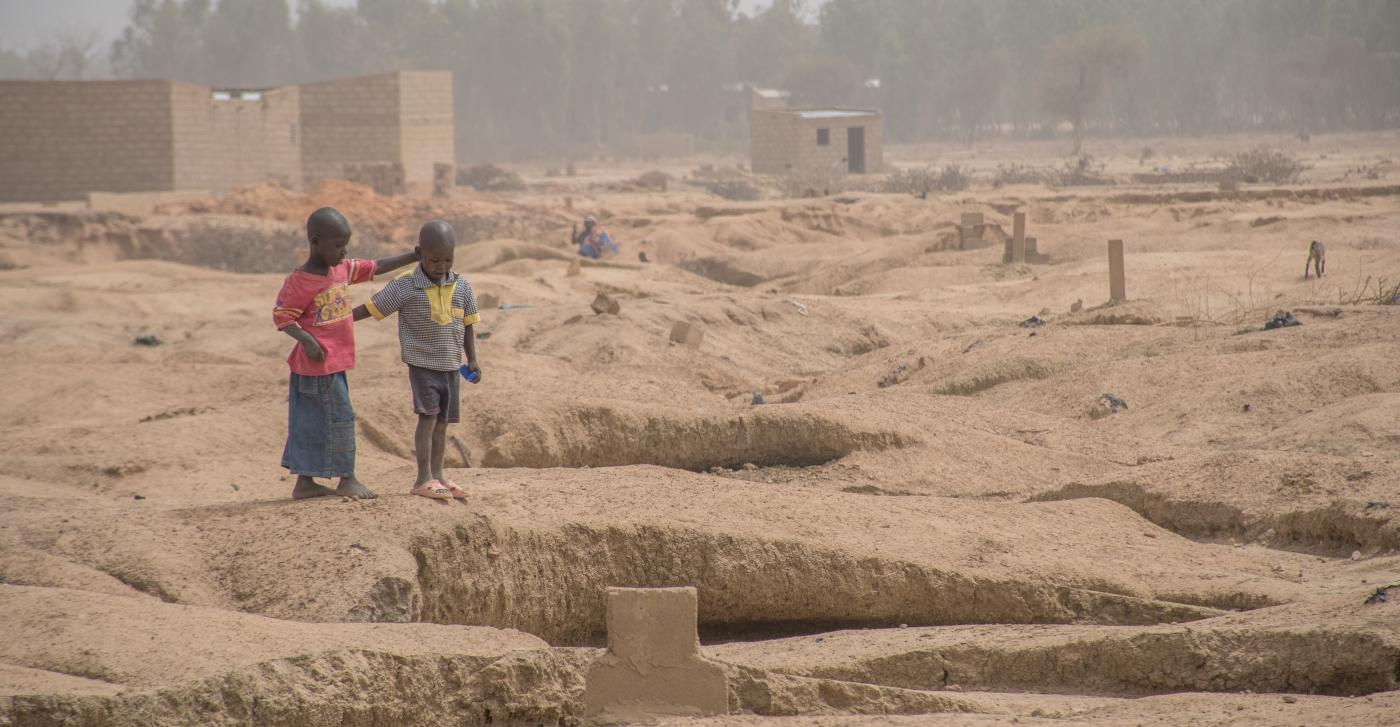 Deti v utečeneckom tábore v subsaharskej Afrike