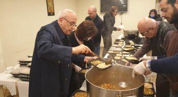 Príprava obedov pre chudobných
