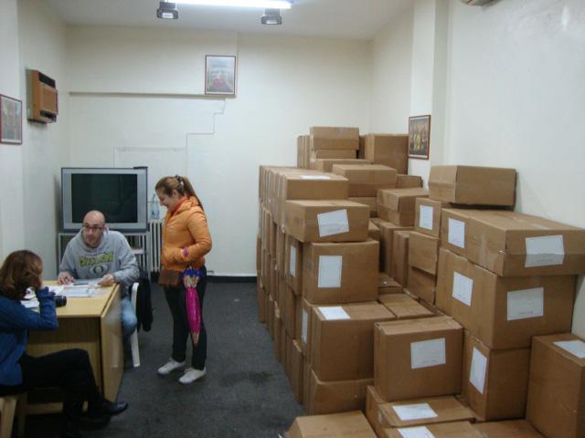 Potravinové balíčky, ktoré zabezpečila nadácia ACN