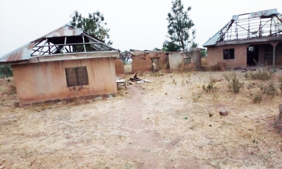 Zničená kaplnka svätého Jána Krstiteľa v Nigérii. Ilustračné foto.