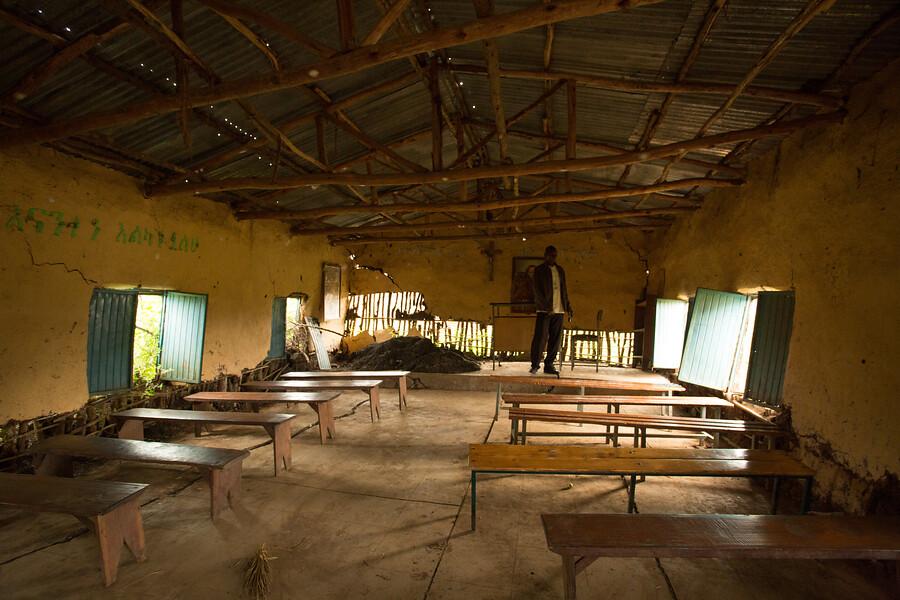 Kaplnka v dedine kmeňa Gumuz