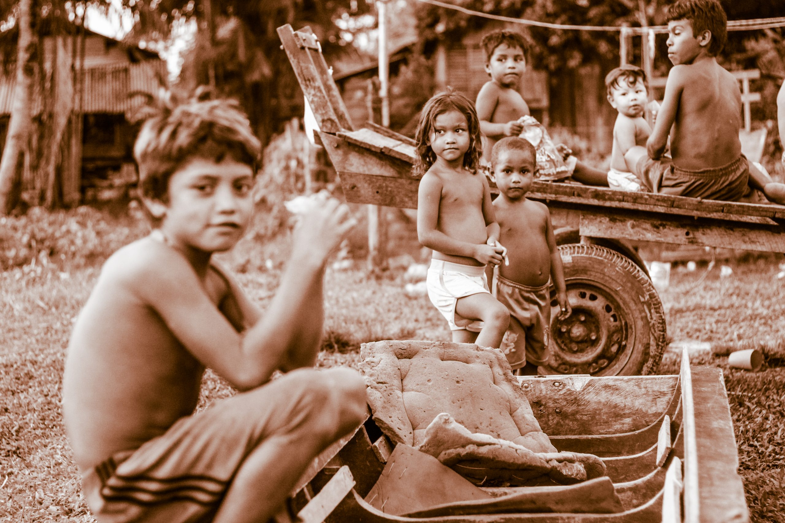 Deti z mesta Chaves v Brazílii