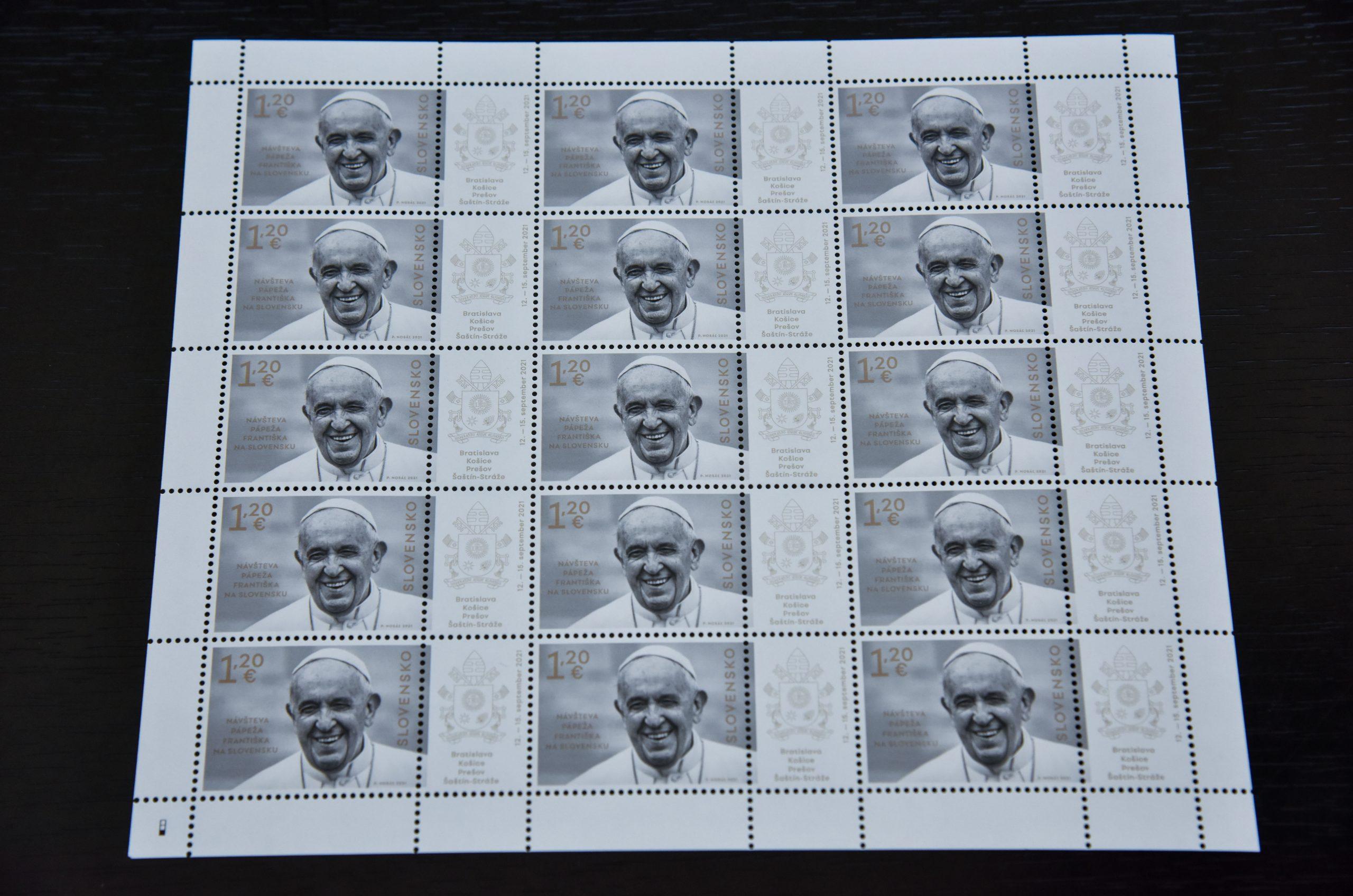 známka pápež TASR